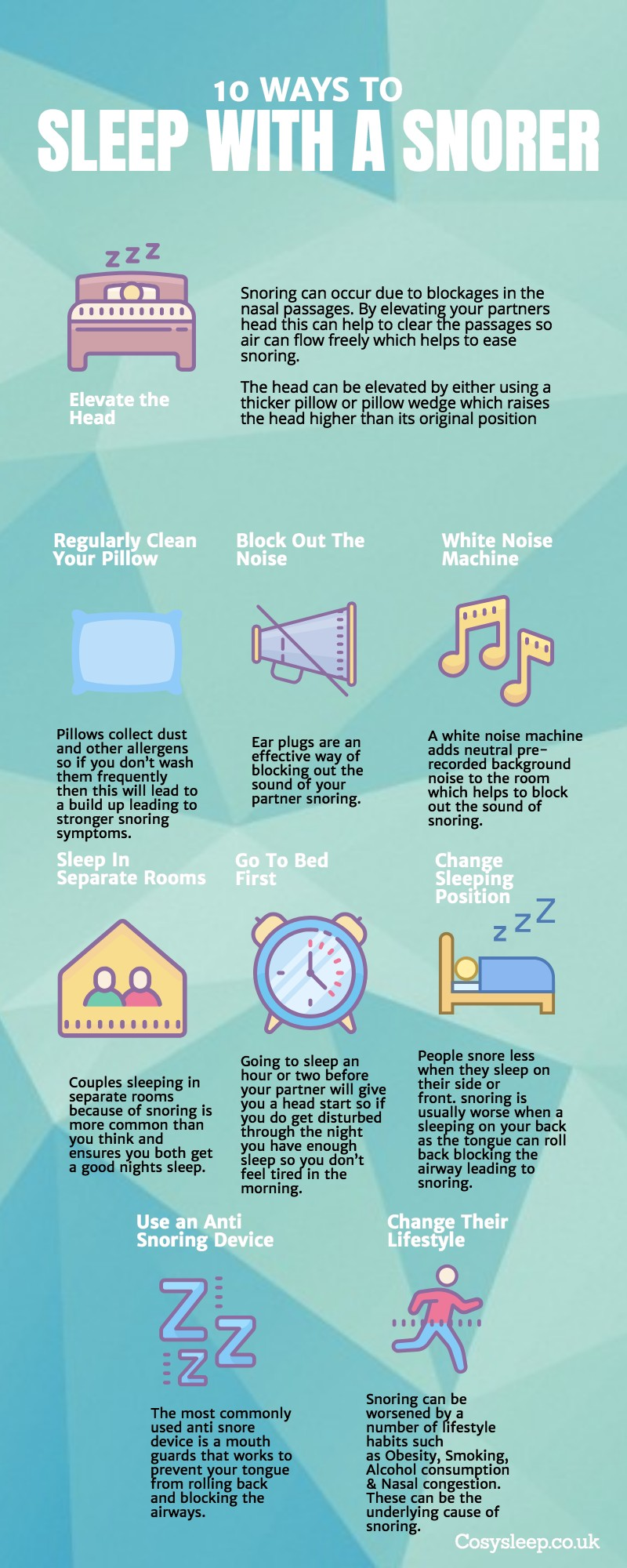 9 Ways to Cope With Sleeping With a Snorer [Infographic